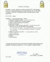 Pozvánka na 2. Valnou hromadu - Domašov dne 20. 10. 2012