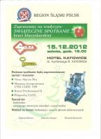 Regionální vánoční setkání Polských klíčníků v hotelu Katowice dne 15.12.2012.