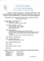 Pozvánka na volební valnou hromadu AZKS dne 27.4.2013 Ostrovačice.