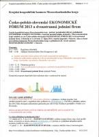 "Česko-polsko-slovenské Ekonomické forum 2013 dne 17.10.2013 hotel ""Imperial"" Ostrava."