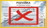 Členská schůze AZKS 2020 - ZRUŠENA!!!